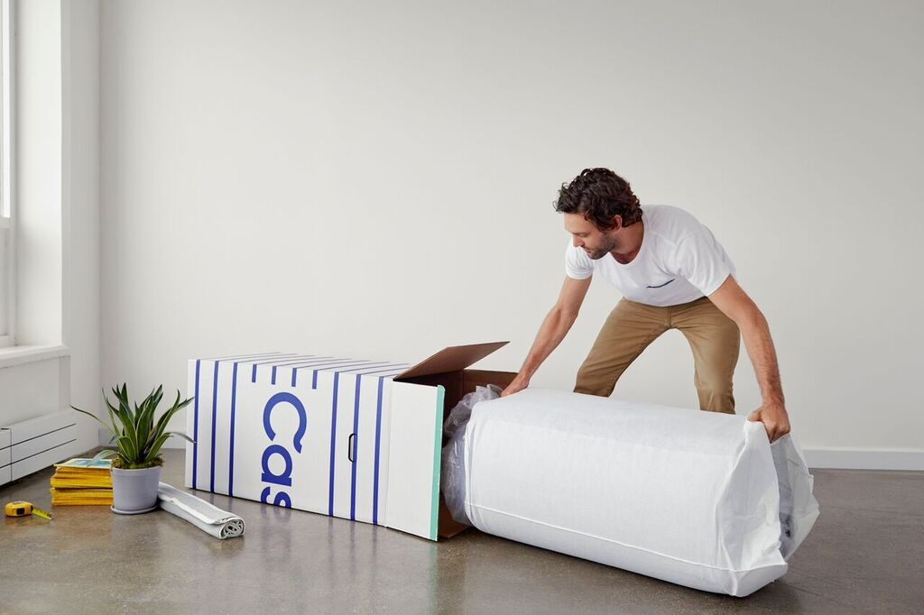 unpacking the mattress