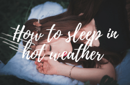 how to sleep in hot weather
