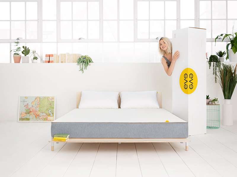 eve hybrid mattress box