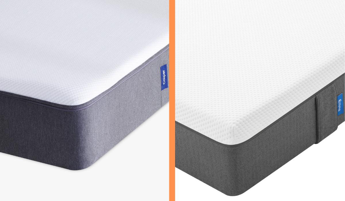 casper vs emma cover comparison