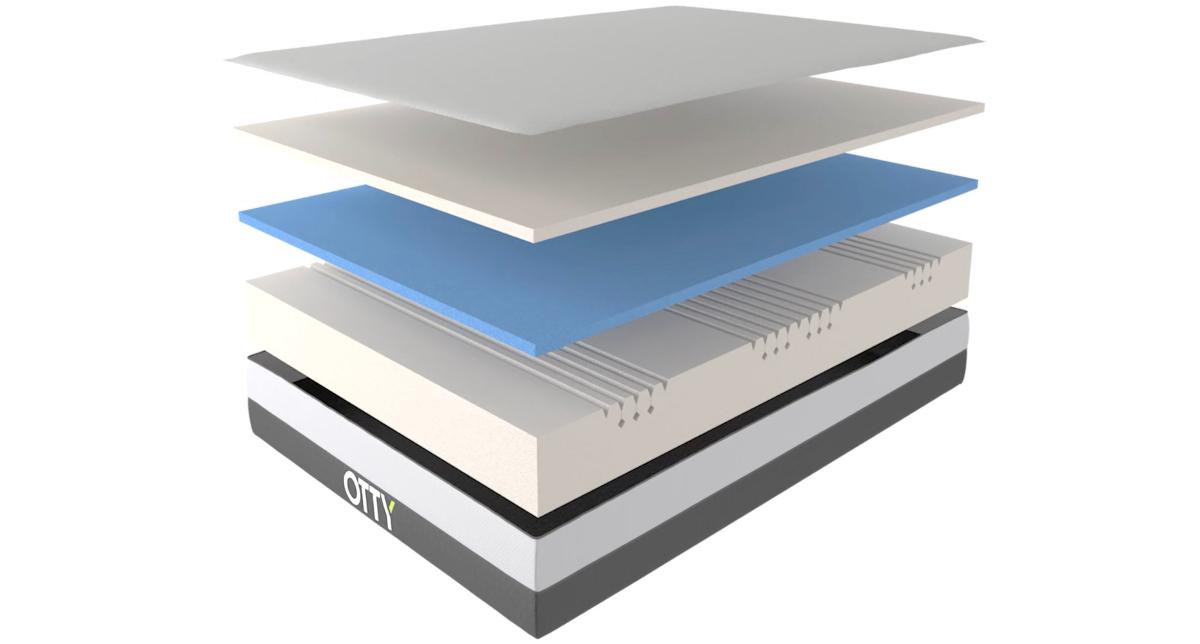 otty flex mattress materials