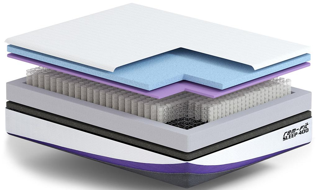 rem fit 400 mattress layers